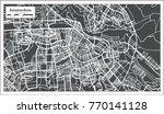amsterdam holland map in retro... | Shutterstock .eps vector #770141128