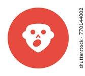 boo circle flat | Shutterstock .eps vector #770144002