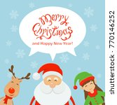 text merry christmas and happy... | Shutterstock . vector #770146252
