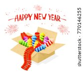 text happy new year and set of... | Shutterstock . vector #770146255
