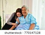 patient concept  grandma's in... | Shutterstock . vector #770147128