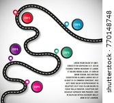 vector road chart templates for ... | Shutterstock .eps vector #770148748