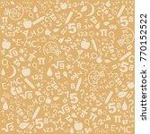 seamless pattern of formulas... | Shutterstock .eps vector #770152522