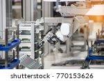 industry 4.0 robot concept .the ... | Shutterstock . vector #770153626