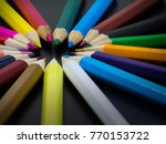 colorful crayons. many... | Shutterstock . vector #770153722
