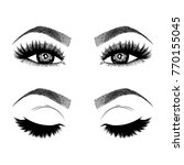 illustration with woman's eyes  ... | Shutterstock .eps vector #770155045