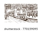 hand drawn sketch of mumbai... | Shutterstock .eps vector #770159095