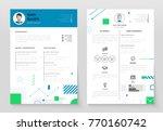 personal cv  set of modern...   Shutterstock .eps vector #770160742
