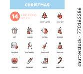 holidays theme  christmas  ... | Shutterstock .eps vector #770163286