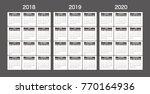 2018 2019 2020 calendar planner ... | Shutterstock .eps vector #770164936