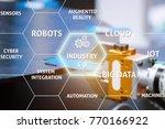 smart factory. industry 4.0 in... | Shutterstock . vector #770166922