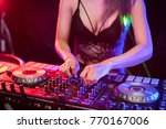 dj is rhythm music with... | Shutterstock . vector #770167006