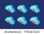 set of icons on topic of cloud... | Shutterstock .eps vector #770167222