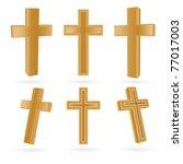 Set Of Wooden Christian Crosse...