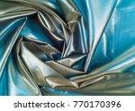 silk fabric texture. blue steel.... | Shutterstock . vector #770170396