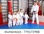 male karate instructor training ... | Shutterstock . vector #770172988
