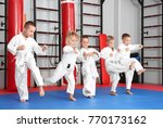 little children practicing... | Shutterstock . vector #770173162