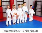 little children wearing... | Shutterstock . vector #770173168