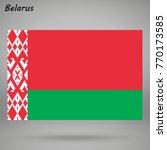 simple flag of belarus isolated ... | Shutterstock .eps vector #770173585