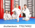male karate instructor training ... | Shutterstock . vector #770174902