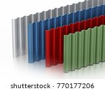 metal sheets stack with various ... | Shutterstock . vector #770177206