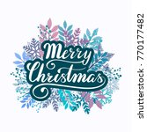 vector lettering merry... | Shutterstock .eps vector #770177482