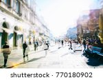 crowd of anonymous people... | Shutterstock . vector #770180902