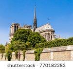 notre dame de paris catholic... | Shutterstock . vector #770182282