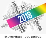 2018 word cloud collage  health ... | Shutterstock .eps vector #770185972