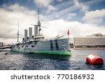 russian military cruiser ...   Shutterstock . vector #770186932