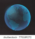 3d abstract planet  dots ... | Shutterstock .eps vector #770189272
