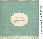 vintage polka dot card with... | Shutterstock .eps vector #77019055