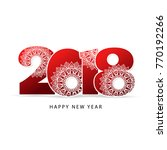 happy new year 2018 theme.... | Shutterstock .eps vector #770192266