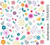 floral vector background.... | Shutterstock .eps vector #770192572