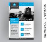 company brochure  corporate... | Shutterstock .eps vector #770195485