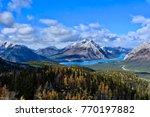 canadian rokies landscape with... | Shutterstock . vector #770197882