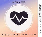 heart medical icon   Shutterstock .eps vector #770198185