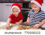 cute little boy and girl twins...   Shutterstock . vector #770200222