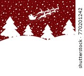christmas background.santa in a ... | Shutterstock .eps vector #770201242