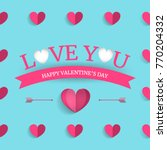 valentine's day greating card.... | Shutterstock .eps vector #770204332