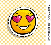 smile in love emoticon. happy... | Shutterstock .eps vector #770205058