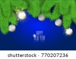 happy new year background with... | Shutterstock .eps vector #770207236