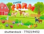horizontal  background farm... | Shutterstock .eps vector #770219452
