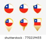 vector flag set of chile | Shutterstock .eps vector #770219455