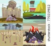 man made environmental... | Shutterstock .eps vector #770219812