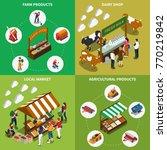 farm local market isometric 2x2 ... | Shutterstock .eps vector #770219842