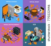 isometric design concept with... | Shutterstock .eps vector #770222446