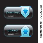 download and upload buttons... | Shutterstock .eps vector #77022280