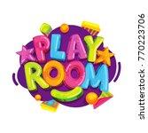Playroom Kids Logo. Vector...