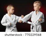 little children practicing... | Shutterstock . vector #770229568